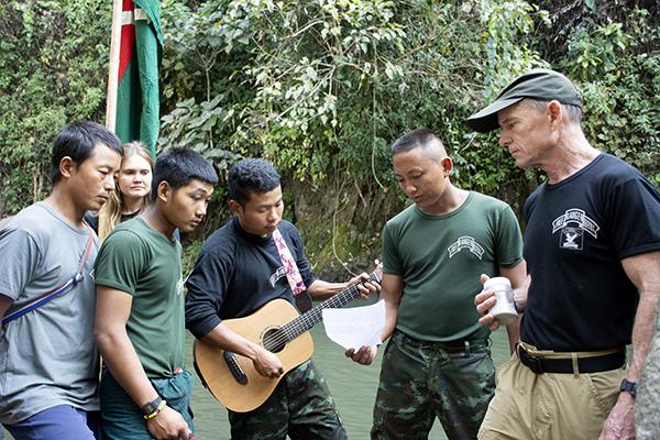 Kachin rangers singing a Kachin song