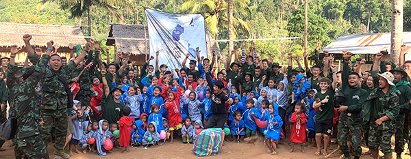 Rangers at the end of a Good Life Club program