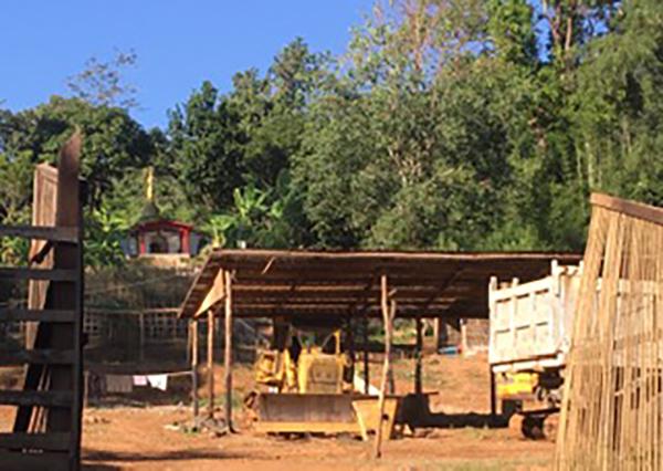 A Burma Army bulldozer in Hsaw Mee Lu
