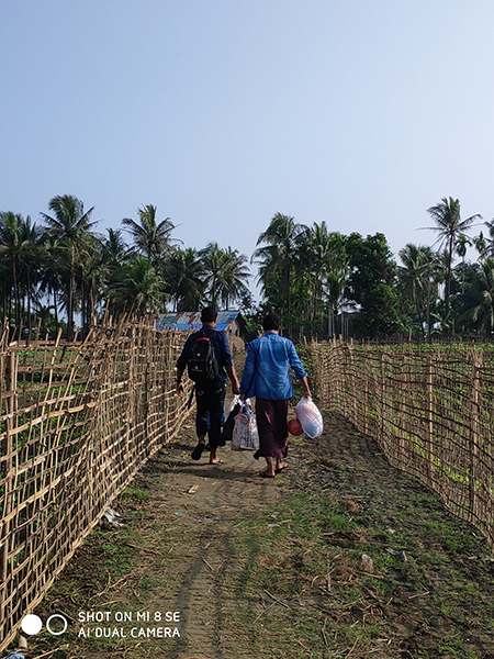 Delivering supplies in Arakan State