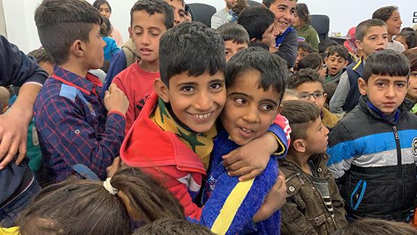 Displaced kids at a GLC program.