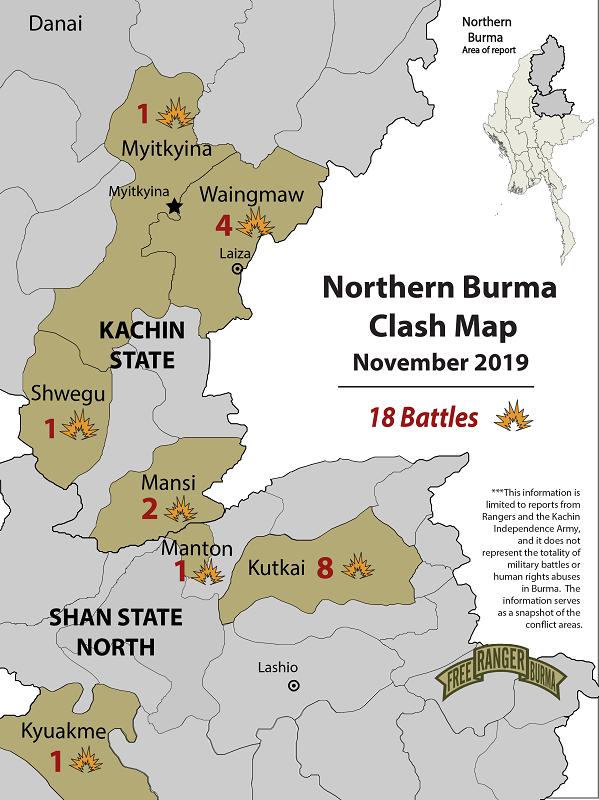 Northern Burma Clash Map November 2019-01