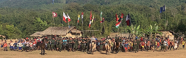 Rangers and villagers at the end of the program