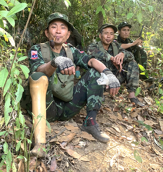 A friend from the Karen National Liberation Army whose job is to clear landmines