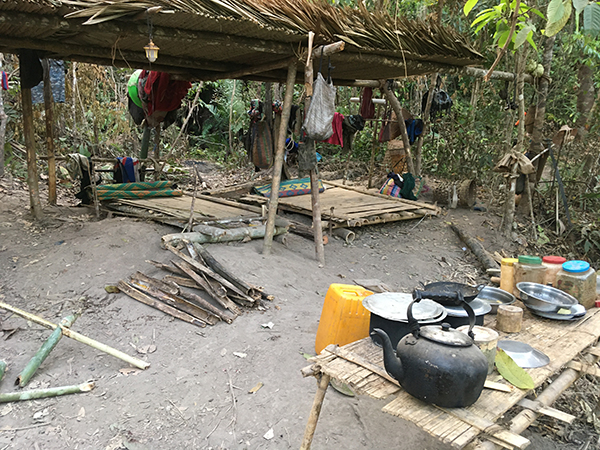 IDP living space in the jungle
