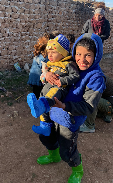 Shoes and socks for Idlib children