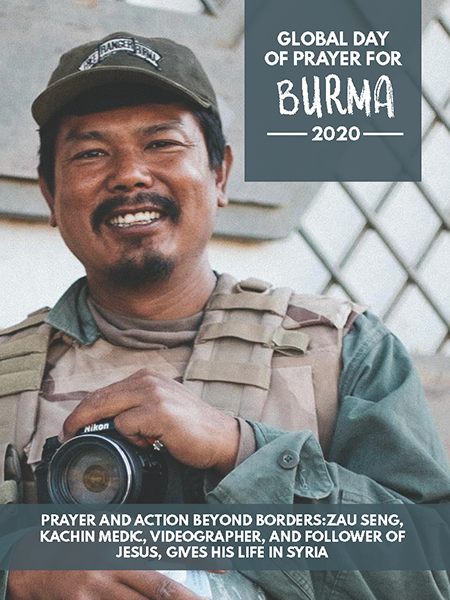 To download the Day of Prayer for Burma magazine in English, please click the magazine cover. Additional languages are provided below.