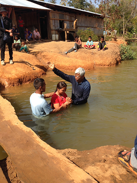 The baptism of a new believer