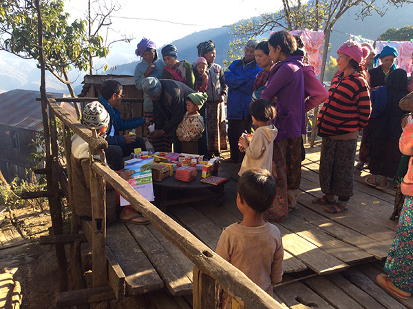 Providing medical care in Falam Township