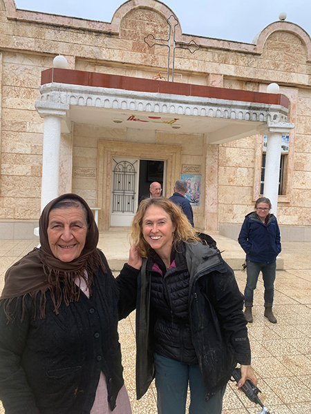 With new friends at a Syriac church that is still functioning