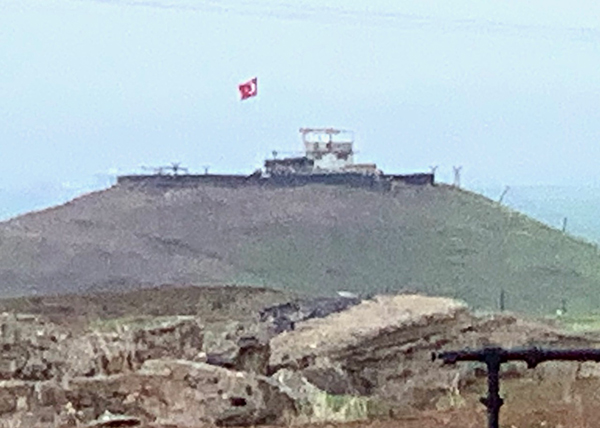 Turkish position from where they shelled the Christian villages near Qamishli in November 2019