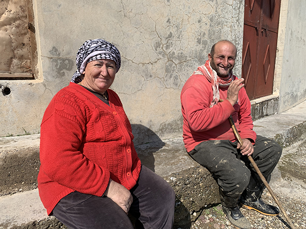 """""""Thank you for coming,"""" said this Christian farmer couple outside a church shelled by Turkey."""