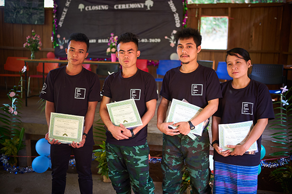 Students who received extra awards during graduation