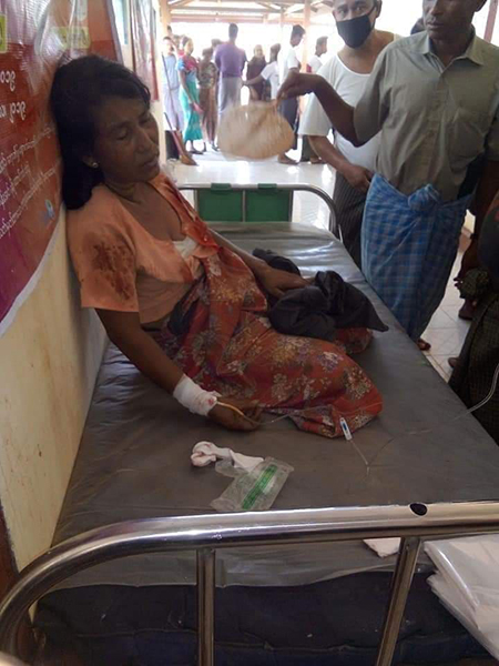 One woman wounded in the attack in Arakan State