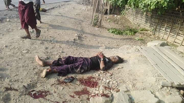 One of the victims from the attack in Arakan State