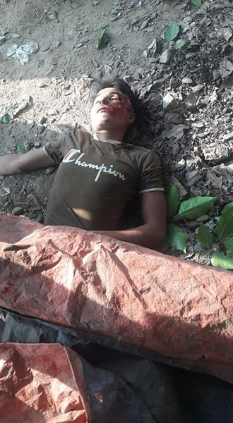 One of the eight victims from the attack in Arakan State