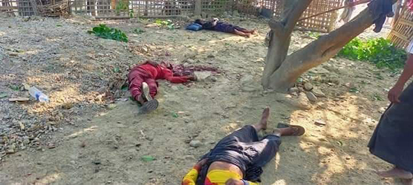 Three victims of the attacks in Arakan State