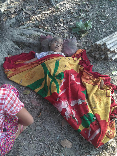 A child who was killed in the bombing.