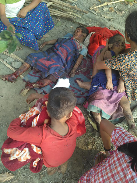 Villagers killed during the bombing