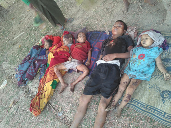 Chin children who died in the Burma Army bombing.