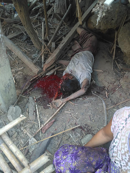 A villager who died in the bombing.