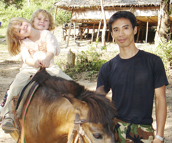 Sahale and Suu with Di Gay Htoo in 2006