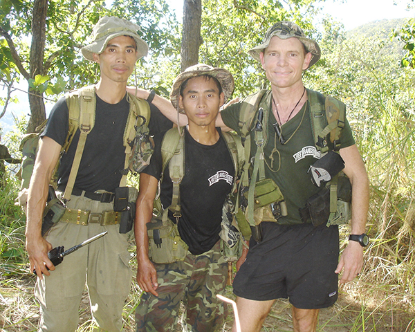 Di Gay Htoo (left), Taxi and Dave