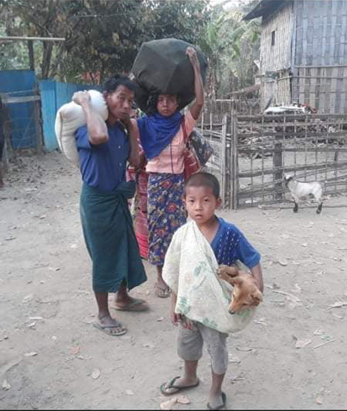 Villagers packed and ready to flee the attacks in Chin State.