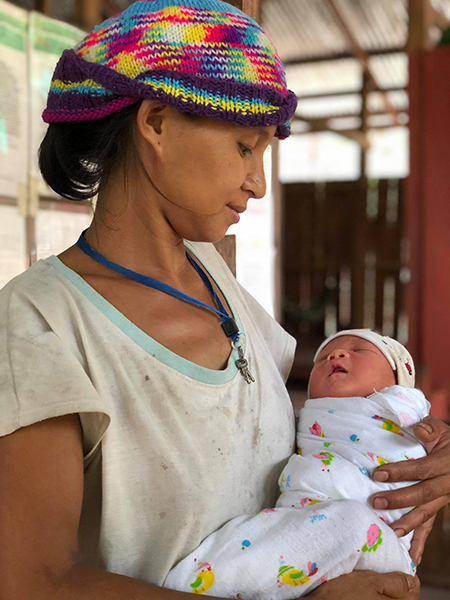 Nah Thay Paw and her newborn baby boy