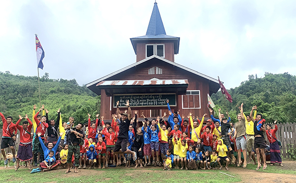 Karen Christians celebrate in a new church near Digay's grave site.