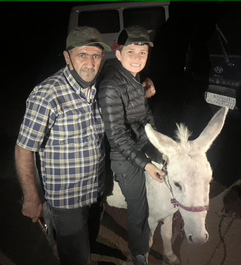 Hakeem, Snowflake and Peter at Donkey House