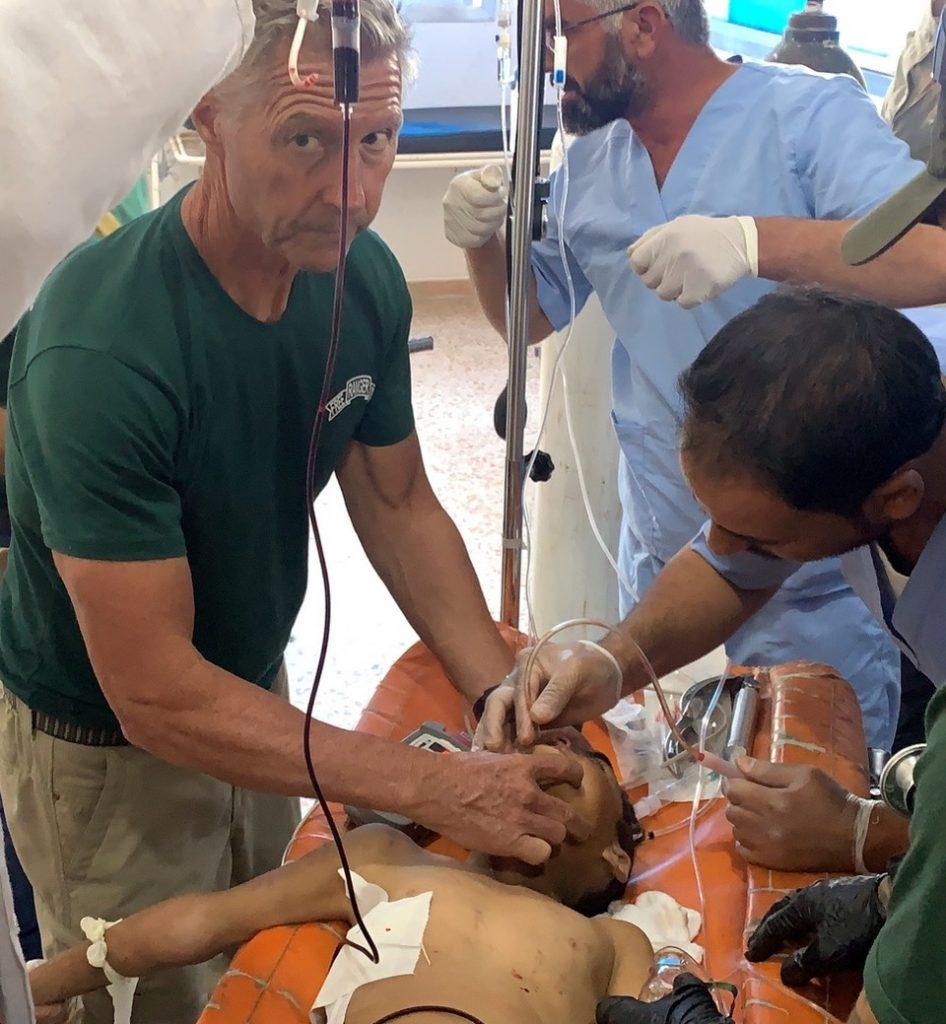 Team trying to save Hatam in Ein Issa