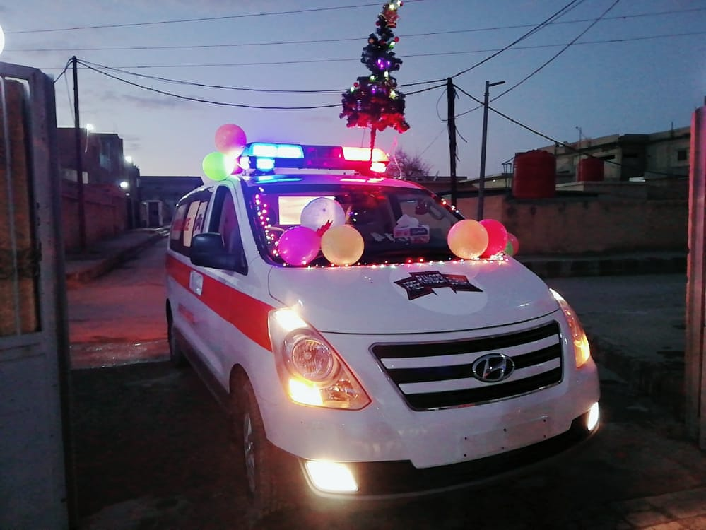 New FBR Ambulance at Ein Issa
