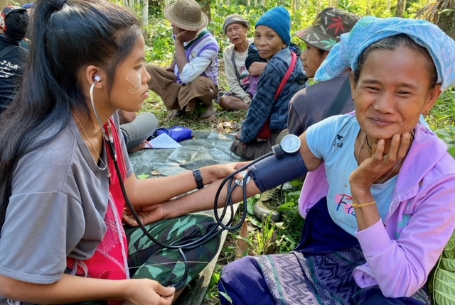 Naw Way Hta village medical treatment