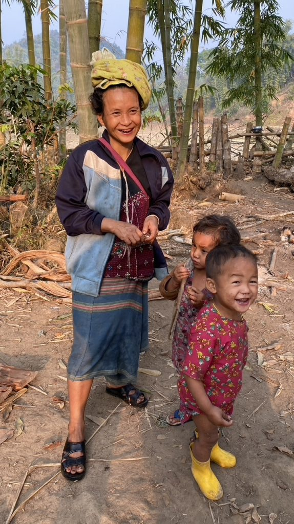 A Karen mother at the end of the childrens program