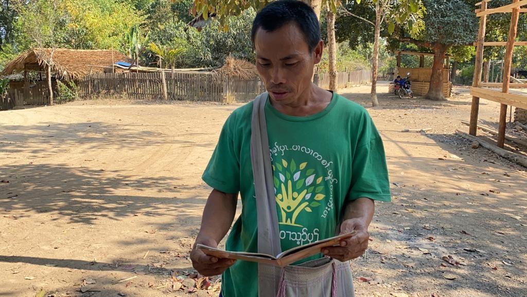 Villager logging Burma Army attacks on village