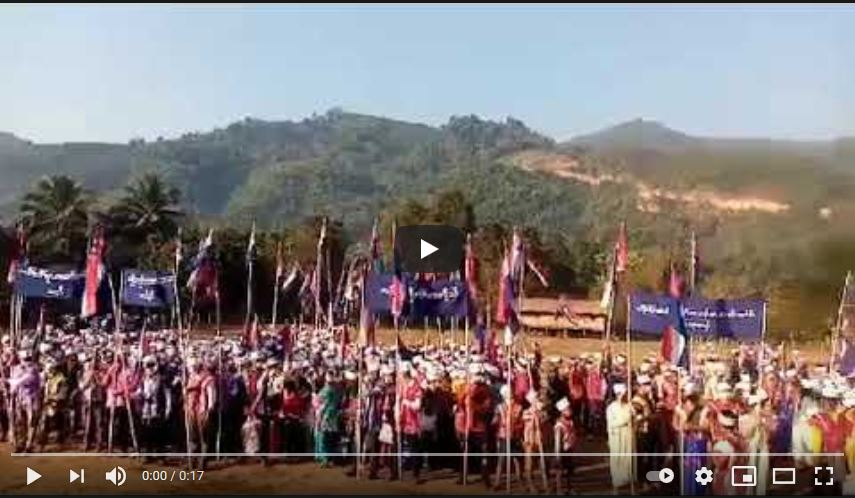 Villagers Protest Military Coup