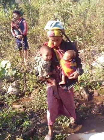 Villagers fleeing Keh Der between 17 -21 January