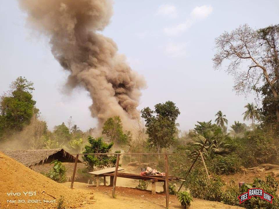 Bomb blast in Saw Pah Lo Poe's village