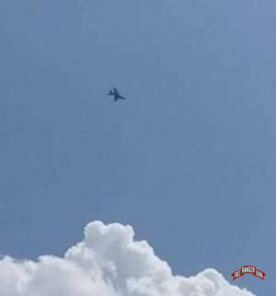 Burma Army fighter jets flying over Dooplaya District