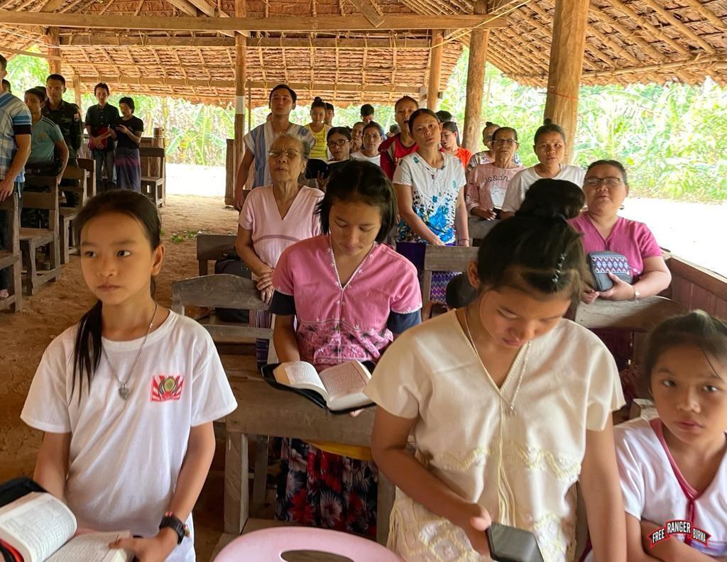 Displaced Karen people singing 2