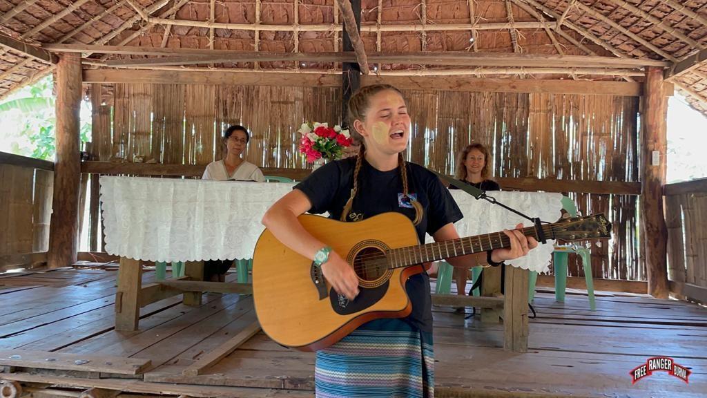 Displaced Karen people singing 3