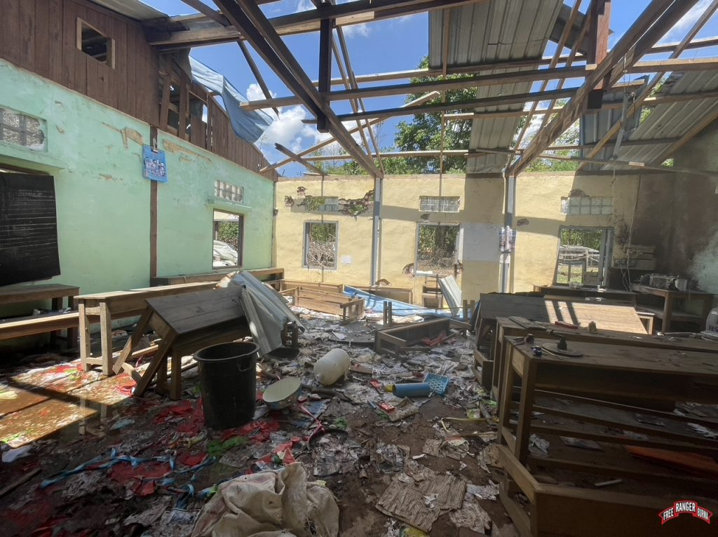Destroyed Classroom