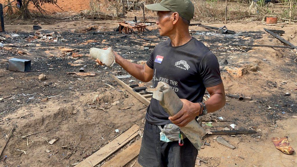 Rocket fragments that killed Naw Mu Wah Paw's husband